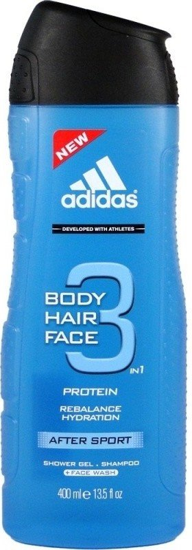 Adidas 3in1 After Sport Sprchový gel 400ml