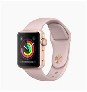 APPLE Apple Watch Series 3 38mm Gold Aluminium Case with Pink Sand Sport Band
