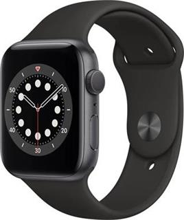 APPLE Watch Series 6 44mm Space Gray Aluminium Case with Black Sport Band - Regular