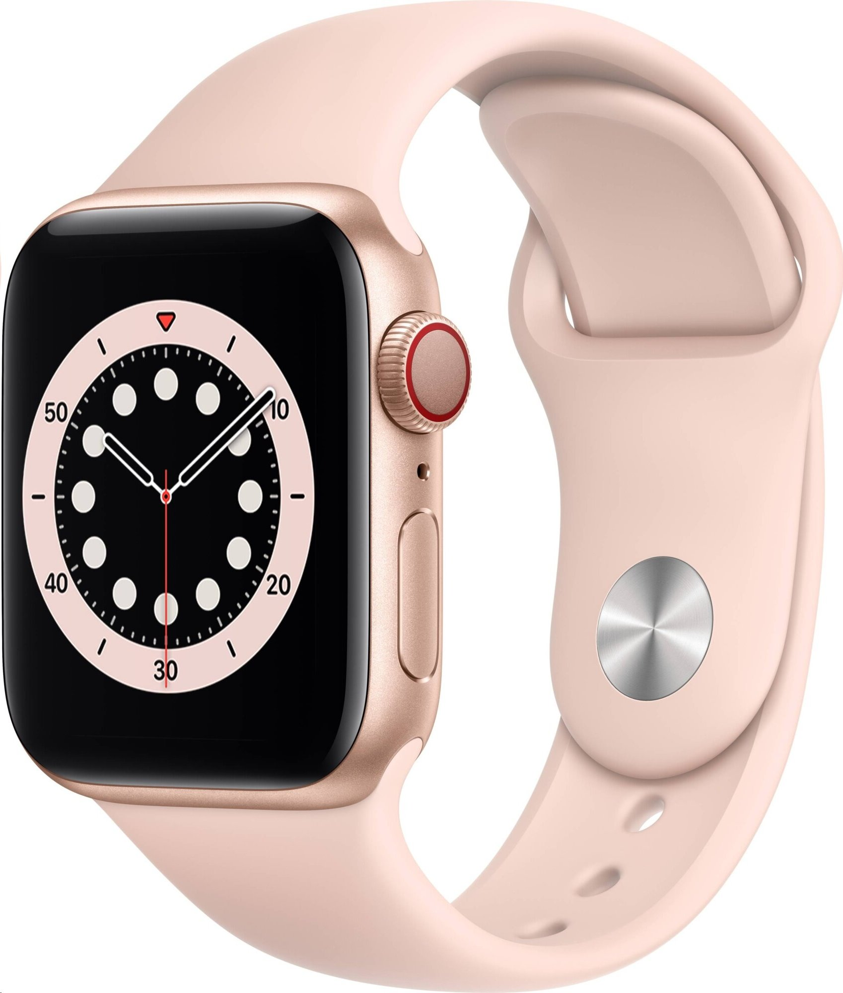 APPLE Watch Series 6 GPS+Cellular,40mm Gold Aluminium Case with Pink Sand Sport Band