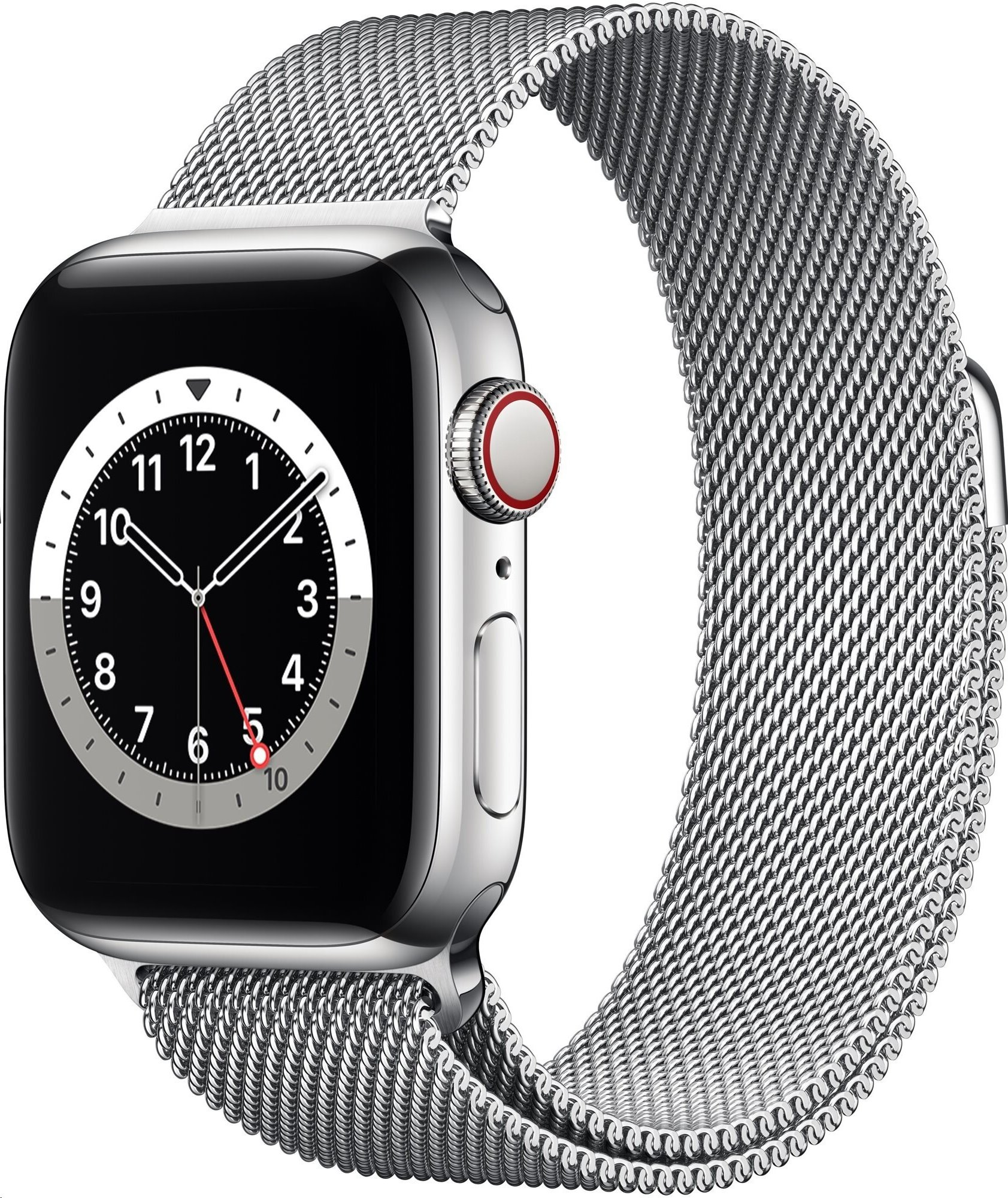 APPLE Watch Series 6 GPS+Cellular,40mm Silver Stainless Steel Case with Silver Milanese Loop
