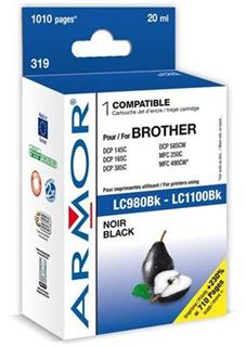 ARMOR cartridge pro BROTHER DCP 145/6690 Black (LC980/LC1100BK) - alternativní