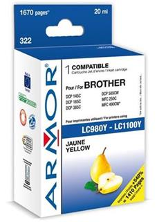 ARMOR cartridge pro BROTHER DCP 145/6690 Yellow ( LC980Y/LC1100Y) - alternativní