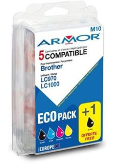 ARMOR cartridge pro BROTHER MFC235/260 2BK+1C+1M+1Y, LC970/LC1000 - alternativní