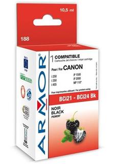 ARMOR cartridge pro CANON S200/300/i250/i350/i455 Black (BCI-24Bk) - alternativní