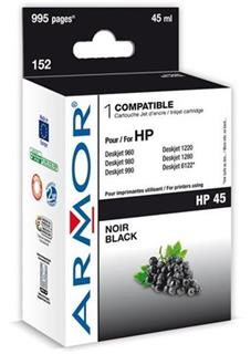 ARMOR cartridge pro HP 45 DJ 710C/820C/890C/990cxi Black (51645A) - alternativní