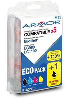 ARMOR multipack pro BROTHER DCP 145C, JUMBO, 2BK+1C+1M+1Y - alternativní