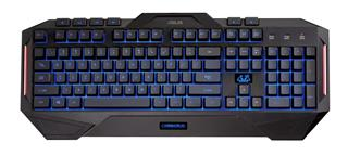 ASUS Cerberus black gaming keyboard (US layout)