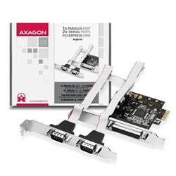 AXAGO PCEA-PS PCI-Express adapter 1x paralel + 2x serial