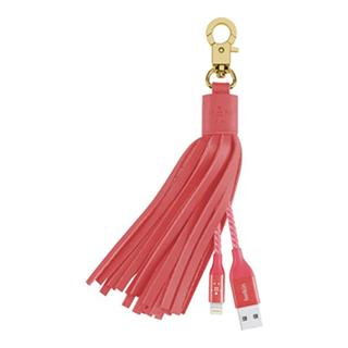 BELKIN Leather Tassel USB - Lightning, růžový