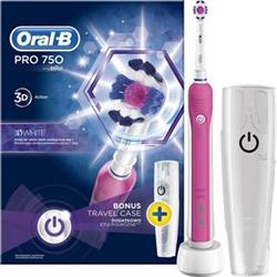 Braun Oral-B Pro 750 3DWhite + Travel Case - pink