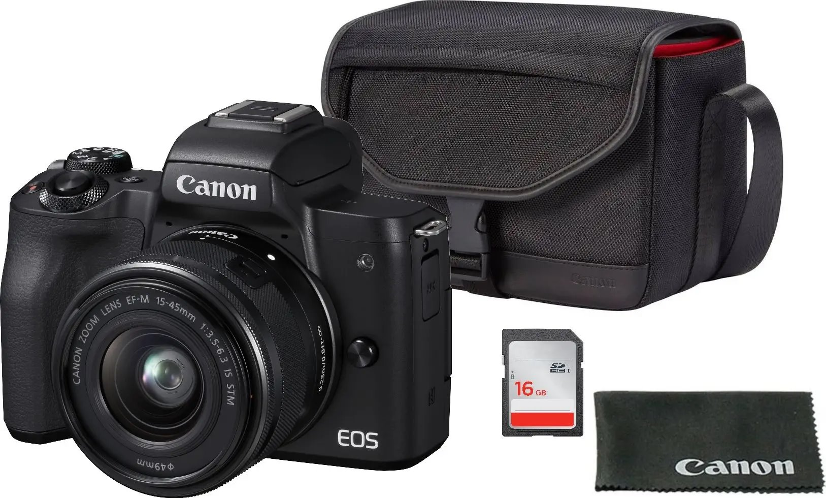 CANON EOS M50 + EF-M 15-45 mm IS STM Value Up Kit