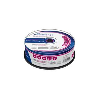 CD-R MediaRange 700MB 52x SPINDL (25pack), printable