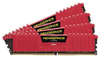 Corsair Vengeance LPX DDR4 16GB (4x4GB) 2400MHz CL14 red