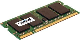 Crucial SODIMM 4GB DDR2 800MHz CL6 (CT51264AC800)