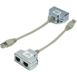 "DATACOM ""Y"" adaptér STP CAT5E PC / TEL+TEL"
