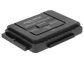 Delock Converter USB 3.0 to SATA 6 Gb / s / IDE 40 pin / IDE 44 pin with backup function