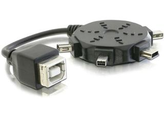 Delock USB A /mini adaptér set (82386)