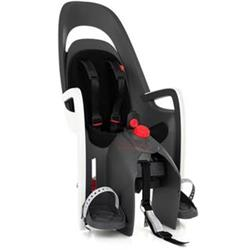 dětská sedačka HAMAX CARESS PLUS polohovací s uzamykatelným adaptérem na nosič - šedá/bílá/černá