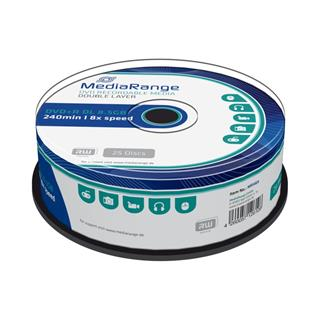 DVD+R DL MediaRange 8.5GB 8x SPINDL (25pack)