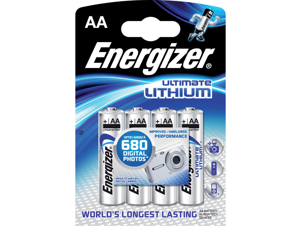energizer ultimate lithium aa 1 5v lithiov 4ks t s bohemia. Black Bedroom Furniture Sets. Home Design Ideas