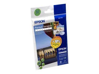Epson Premium Semigloss Photo Paper 10x15cm, 50 listů, 251g/m2