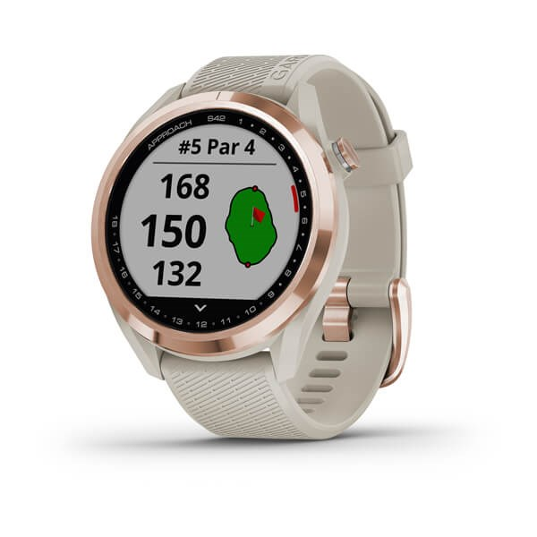 Garmin Approach Approach S42 Rose Gold/Light Sand Silicone band