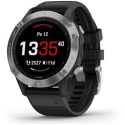 Garmin fenix6 Glass, Silver/Black Band