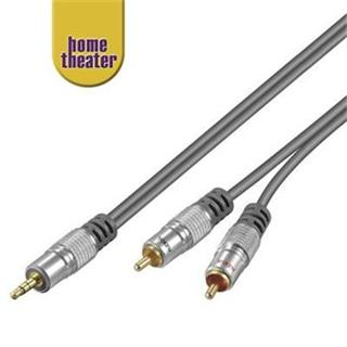 Home Theater HQ Kabel Jack 3,5mm - 2x CINCH, M/M, 2,5m