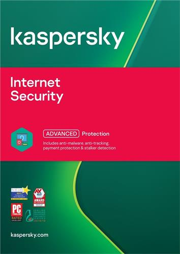 Kaspersky Internet Security multi-device 2019 CZ, 10 lic., 1 rok, nová licence, elektronicky