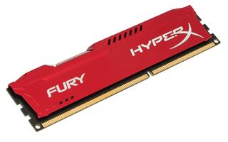 Kingston HyperX Fury 8GB 1600MHz DDR3 CL10 (10-10-10-30), červený chladič