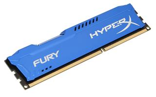 Kingston HyperX Fury 8GB 1600MHz DDR3 CL10 (10-10-10-30), modrý chladič