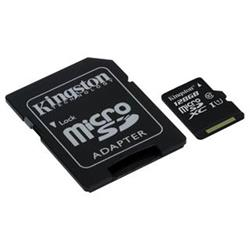 KINGSTON micro SDXC 128GB Canvas Select UHS-I CL1 (U1) (čtení/zápis: 80/10MB/s) + SD adaptér