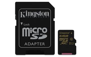 Kingston SDCA10/64GB Ultimate Micro SDXC class 10, 90MB/s, UHS-1, dozivotni zaruka + SD adaptér