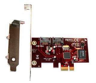 Kouwell KW-5103 PCI-E Karta SATA II, 2x int. port, Low profile
