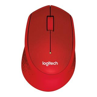 Logitech Wireless M330 Silent Plus červená