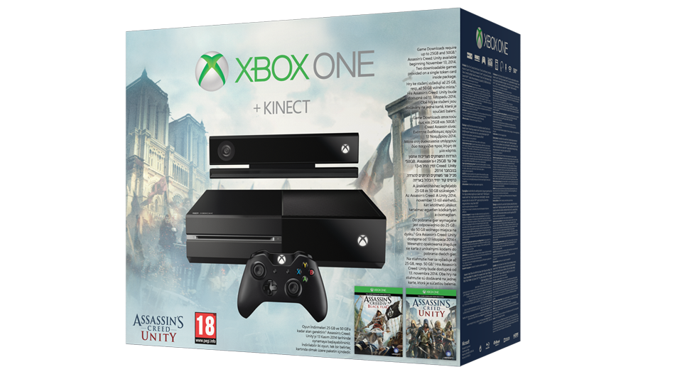 Microsoft xbox one gb kinect assassins creed unity
