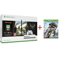 Microsoft XBOX ONE S 1TB + Division 2 + Ghost Recon Breakpoint