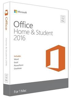 Office Mac Home and Student 2016 English (GZA-00695)