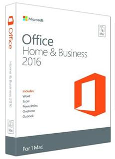 Office Mac Home Business 2016 Eng W6F-00550