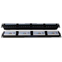 "PATCH PANEL 19"" Patch panel 24x RJ-45 Cat 5e UTP 1U"