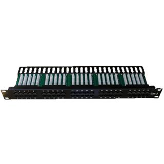 Patch panel ISDN 25p.1U Integrovaný BLACK, 19""