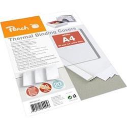 Peach PBT303-01 vázací desky pro termální vazbu, A4, bílá, 20ks