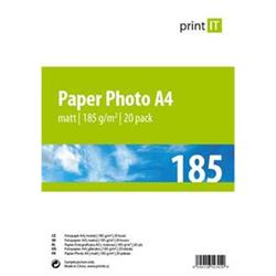Print IT papír Photo A4 185 g/m2 Mate 20pck/BAL