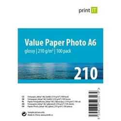 Print IT Value papír Photo A6 210 g/m2 Glossy 100pck/BAL