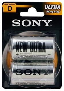 Sony baterie Ultra R20/D, 2 kusy