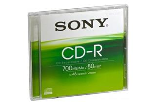 Sony CD-R 700MB 48x 1ks jewel
