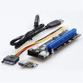 UNIBOS UNRI-104 Riser card PCIe x1 to PCIe x16 + 4-pin power cable
