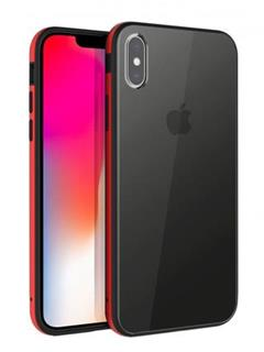 Uniq Hybrid iPhone XS/X Valencia Clear - Crimson Red