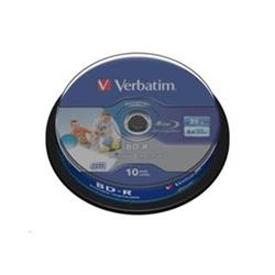 Verbatim BD-R LSL 25GB Printable, 10ks cakebox